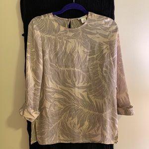Club Monaco Silk Printed Shirt
